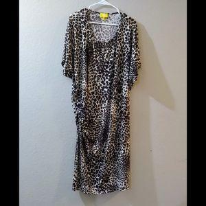 ***Leopard print dress